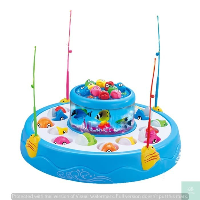 Foto Produk Fishing Game Blue 3D Effect With Music 685-22 Mainan Pancing Ikan dari Lumi Toys