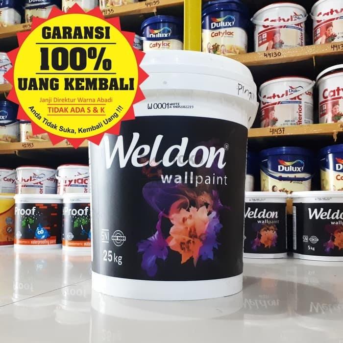 harga Cat tembok weldon interior 25 kg Tokopedia.com