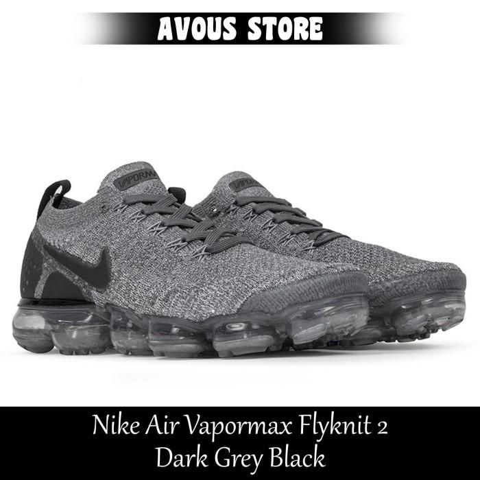 a32e4b0b34 Jual Nike Air Vapormax Flyknit 2 Dark Grey Black - AVOUS STORE | Tokopedia