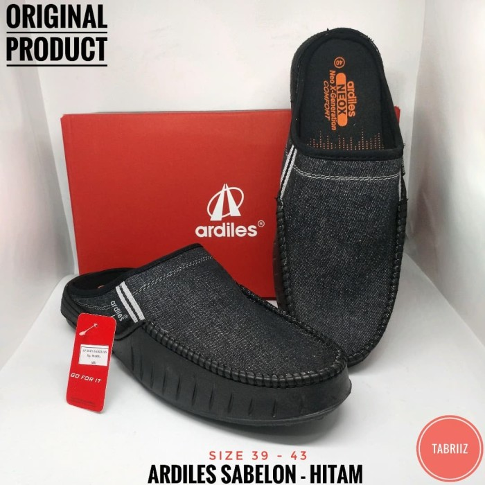 Sepatu Ardiles SABELON -HITAM- Sepatu Pria Slip On - Sepatu Crocs - Hitam dc4cdd34c8