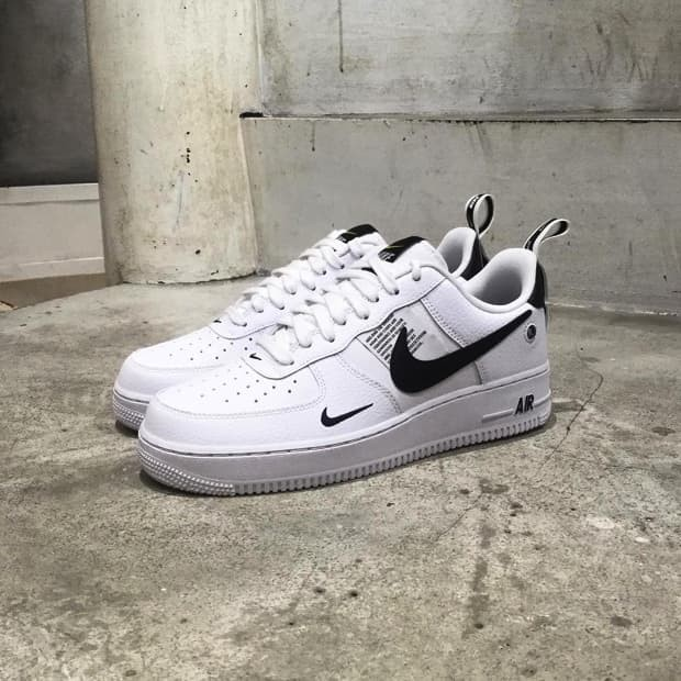 online store 291ab 0fd01 Nike Air Force 1 Low 07 LV8 Utility White Black Premium Original