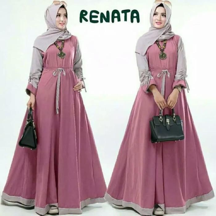 Jual Baju Gamis Modern Remaja Muslim Wanita Renata Dress