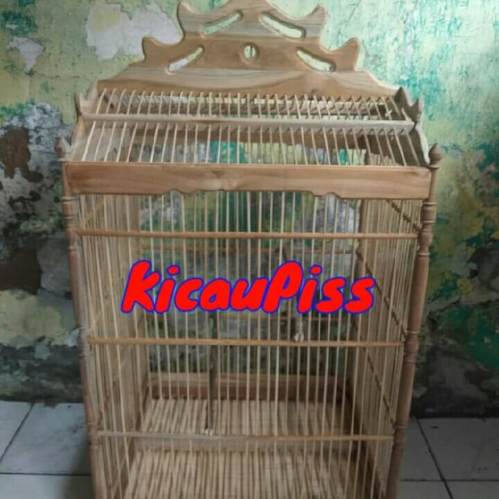 harga Kandang burung kotak mentah ukir kayu jati no 1 Tokopedia.com