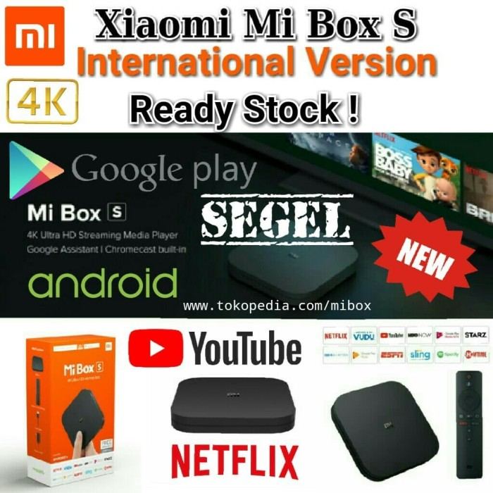 Jual Xiaomi Mi Box S / MiBox 4 International Version MDZ-22-AB Android TV -  SEGEL - Jakarta Barat - Official MiBox Store | Tokopedia