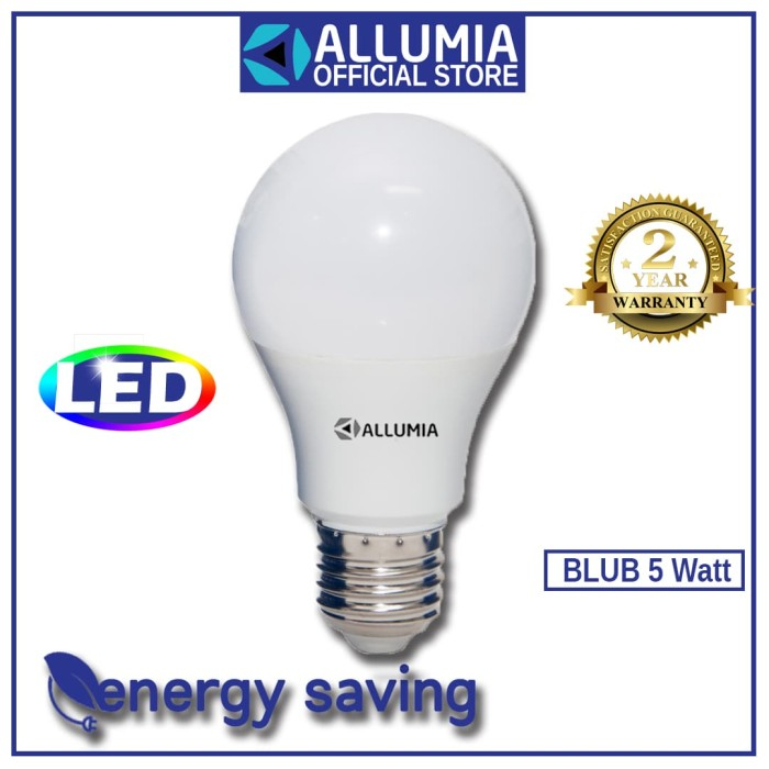 Allumia Paket Hemat Blub 5 Watt 5pcs White 6500K