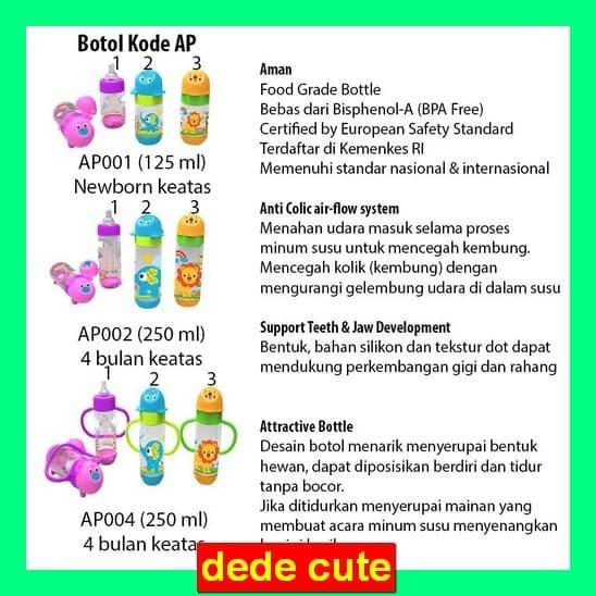 dede Baby Safe Botol Bayi Babysafe AP001 AP002 AP003 AP003 AP004 JP002