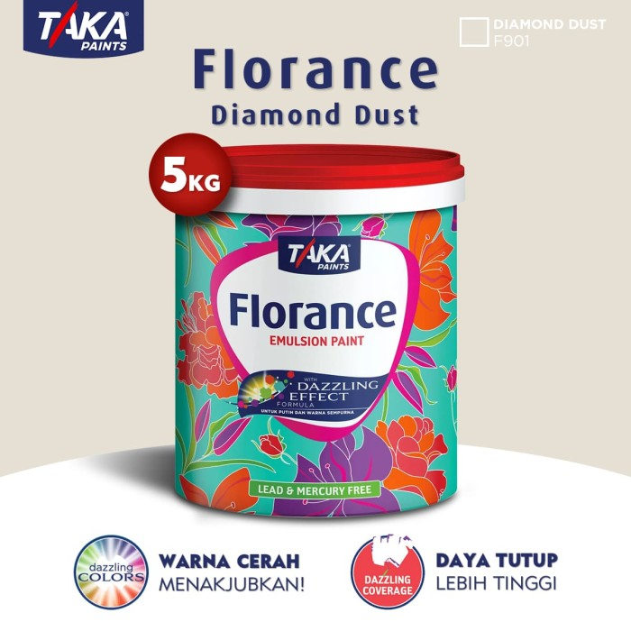 harga Taka florance cat tembok - diamond dust 5 kg (f901 (fs)) Tokopedia.com