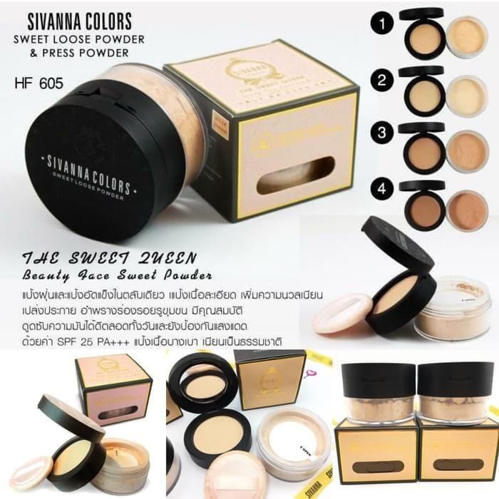 [Sivanna Colors] 2 in 1 The Sweet Queen Loose & Press Powder Bedak ORI