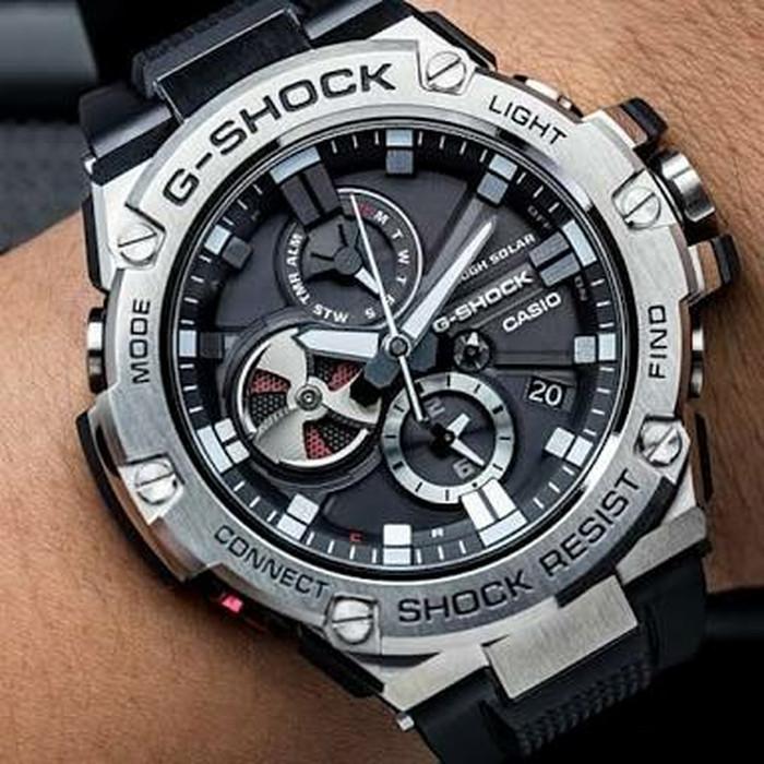 Jam Tangan Pria Casio G-Shock G-Steel GST-B100-1A Original