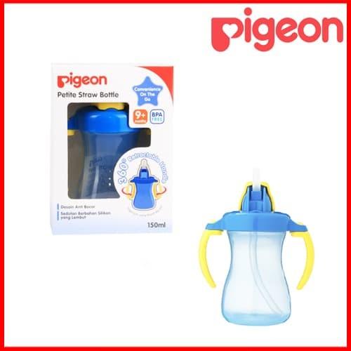 Pigeon Petite straw bottle warna biru