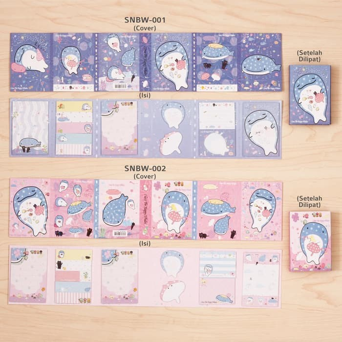 Bagus Whales - Sticky Notes Buku Besar/ Memo It / Stick It/ P