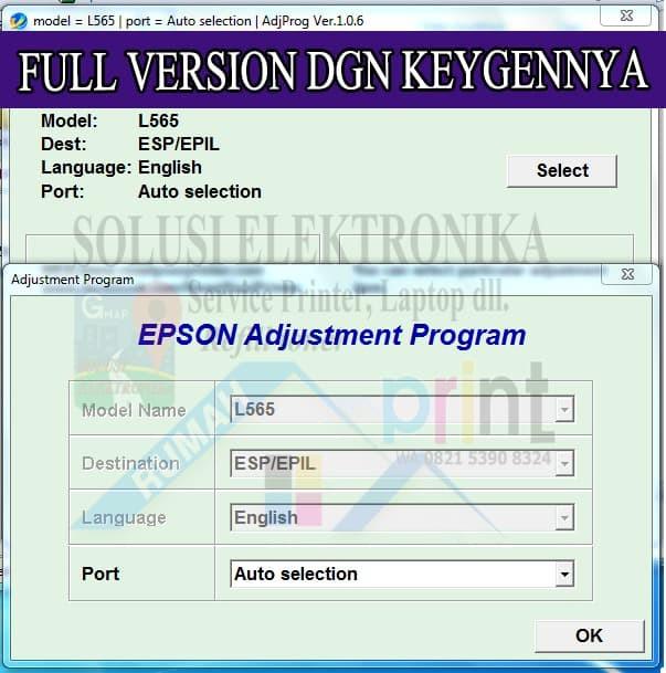 Jual Resetter Epson L565 FULL VERSI Dengan Keygen Generator 100 % Bekerja -  Kota Banjarmasin - SOLUSIELECTRONIKA | Tokopedia