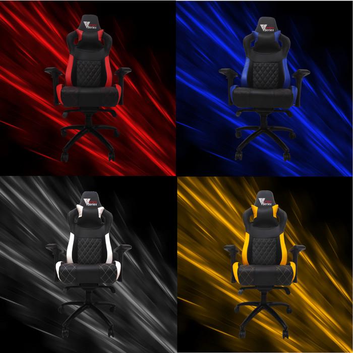 "Foto Produk Vortex ""S"" Series Gaming Chair / Kursi Gaming Komputer - White lis Black dari VortexSeries"