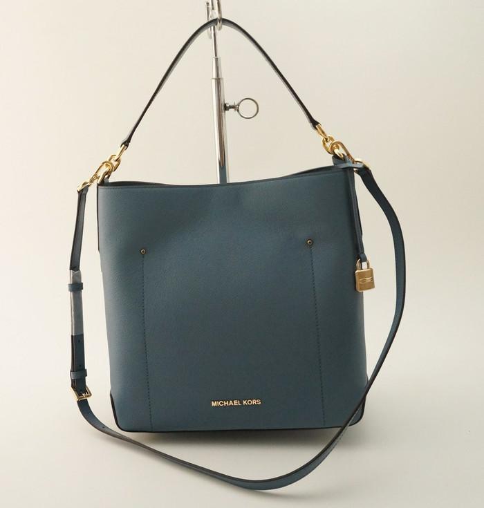 68b6dd3b0648 Jual Tas Michael Kors Original / MK Hayes Large Bucket Bag Denim ...