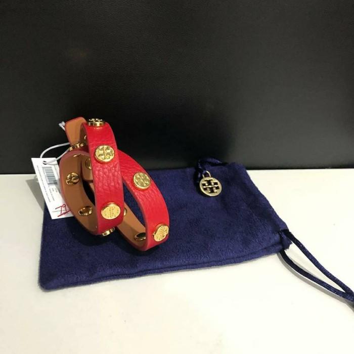 195312a9002 Gelang Tory Burch Original   TB Bracelet Bracelets Banana Liberty Red