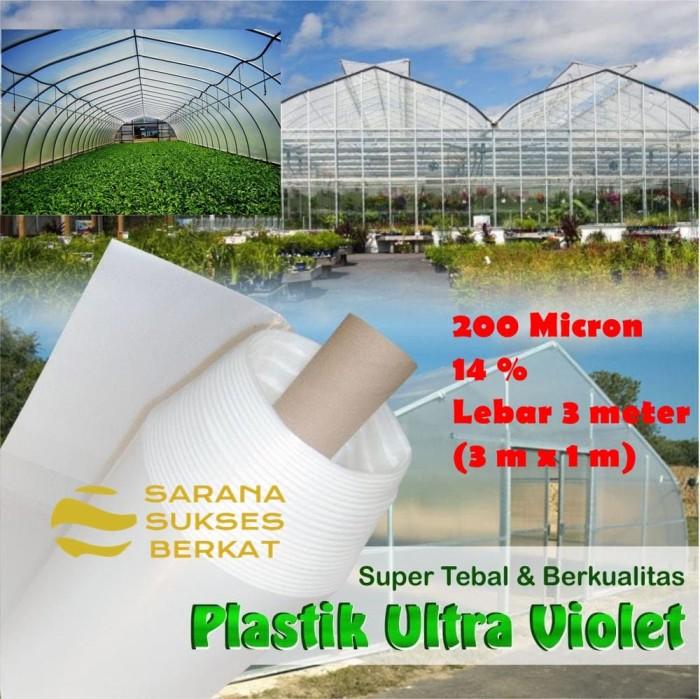 Foto Produk Plastik UV Green House 200 Micron 14 persen uk. 3 m x 1 m dari Sarana Sukses Berkat