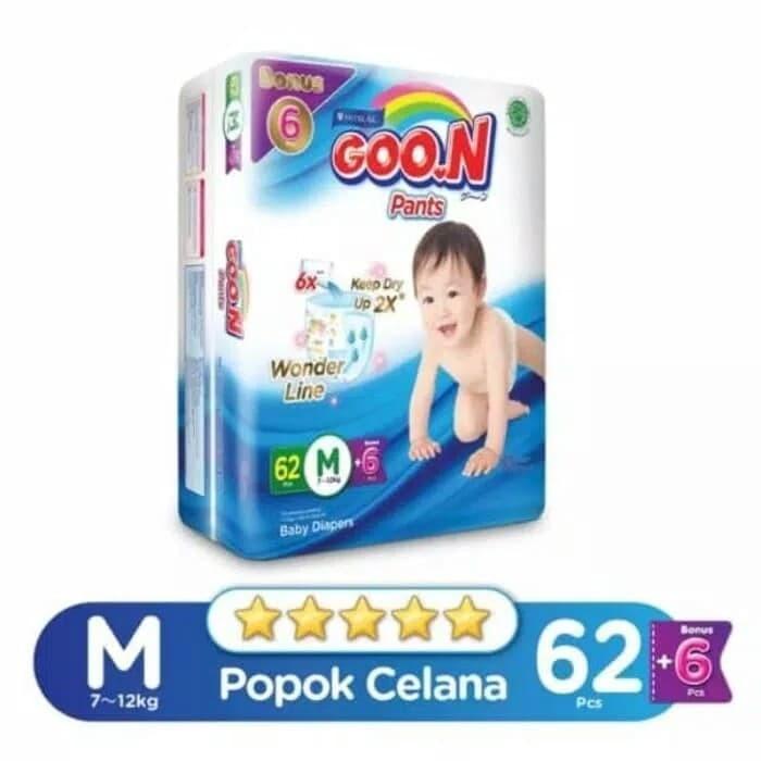 harga Goon m62 diapes pants ukuran m isi 62 pcs celana Tokopedia.com