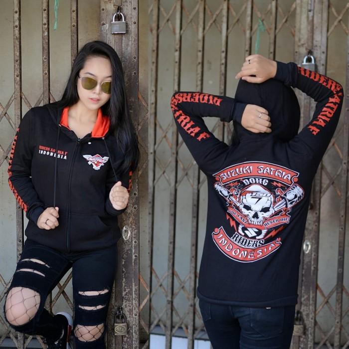 Foto Produk Sweater Satria Fu Jaket Bikers Satria Fu Hoodie Suzuki Satria Fu - Hitam, M dari BIKERS SHOP BANDUNG MC