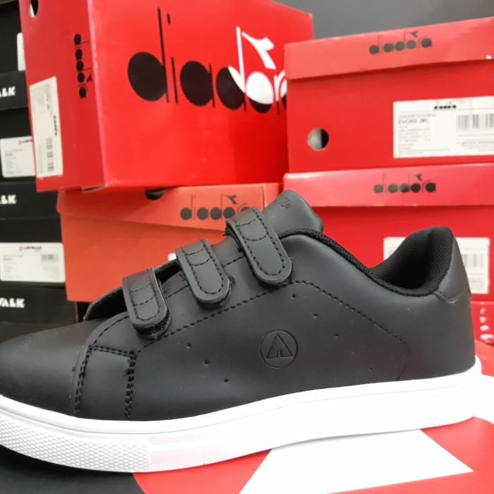sepatu airwalk anak hitam polos sepatu sekolah anak sepatu hitam anak -