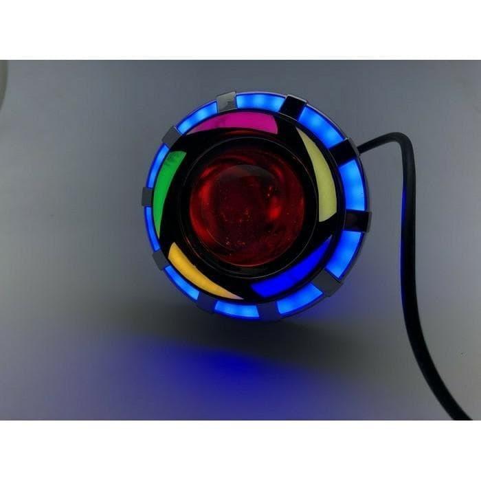 Lampu Projie U26R Mini Rrb Rainbow 3 Inch Angel Bulat Running Wmp 0592