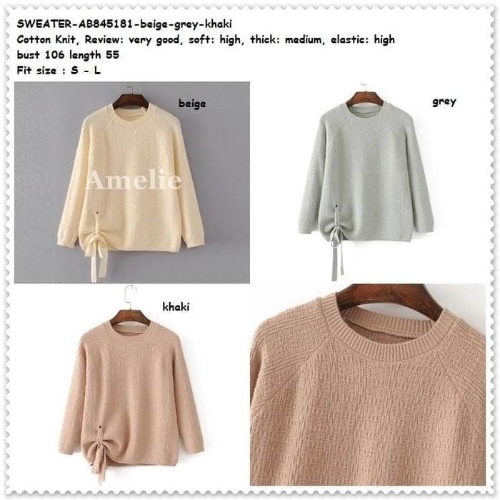 Jual Winter Sweater Baju Atasan Rajut Knit Lace Blouse Wanita Korea ... 7afad99735
