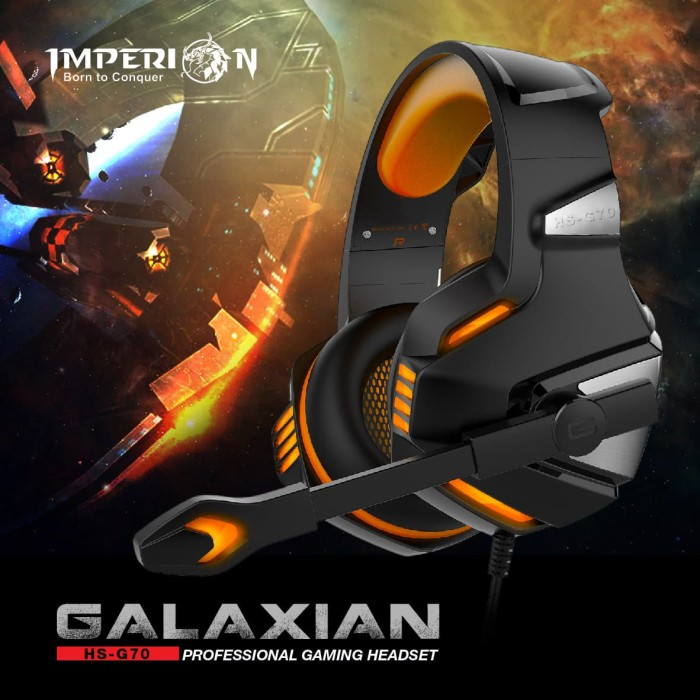 Foto Produk Headset Gaming Imperion HS-G70 Galaxian, 7.1 surround Sound dari Imperion Official Store