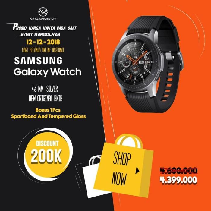 Jual Ready Samsung Galaxy Watch 2018 Smartwatch Silver 46mm New