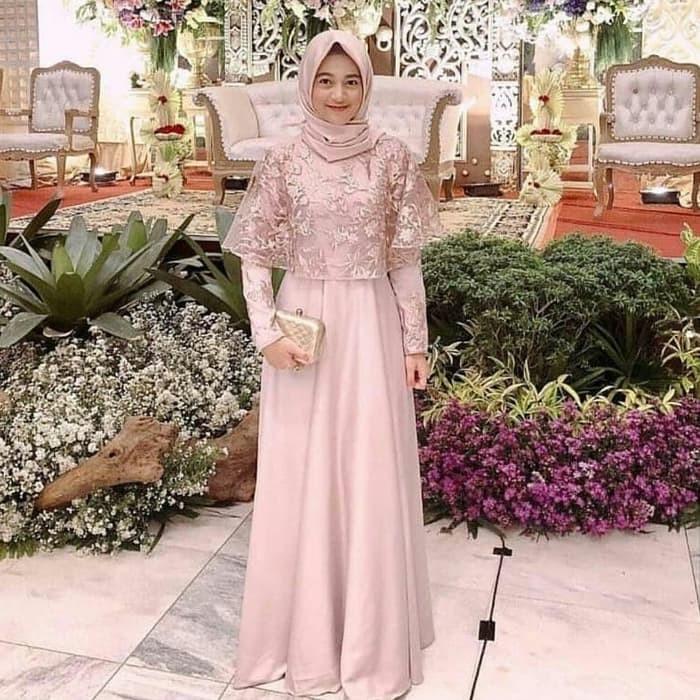 Jual Gamis Modern Kiza Maxi Dress Gamis Gaun Brukat Kondangan Hijab Modern Kab Bandung Wian Collections Tokopedia