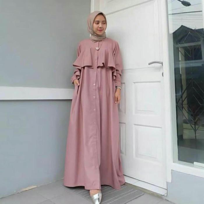 Jual Gamis Modern Aira Maxi Dress Hijab Gamis Wanita Hijab Modern Kab Bandung Tredina Tokopedia