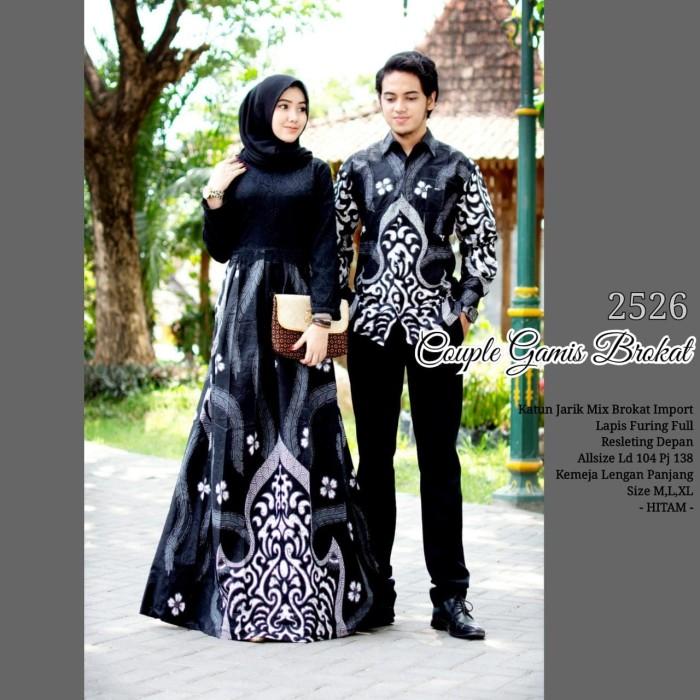 Jual Couple Batik Sarimbit Gamis Semi Sutra Baju Pasangan 2526 ... 5759f3bf97
