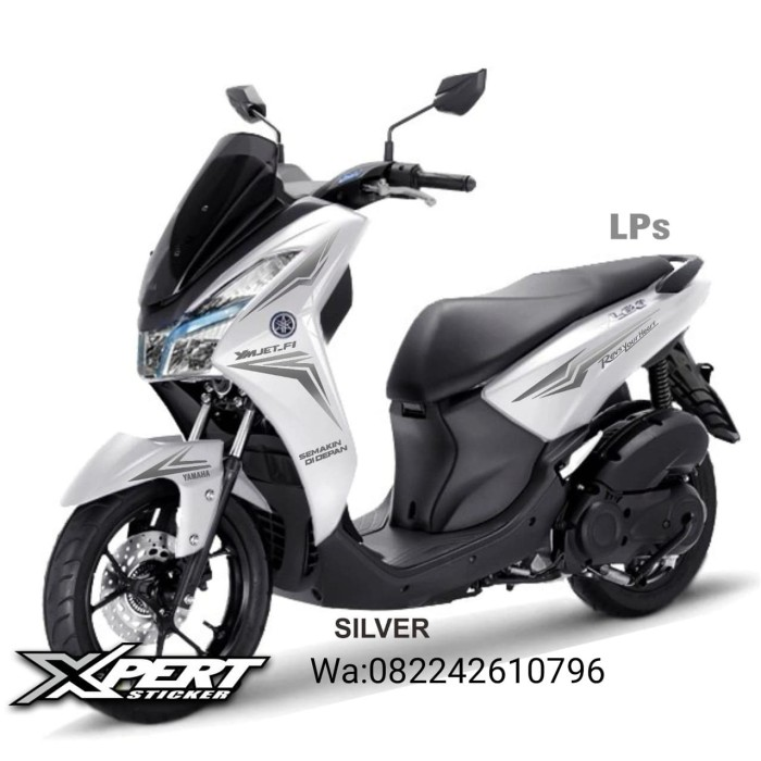 Foto Produk Striping Cutting Yamaha Lexi Putih Sporty edition Silver dari StickerArt