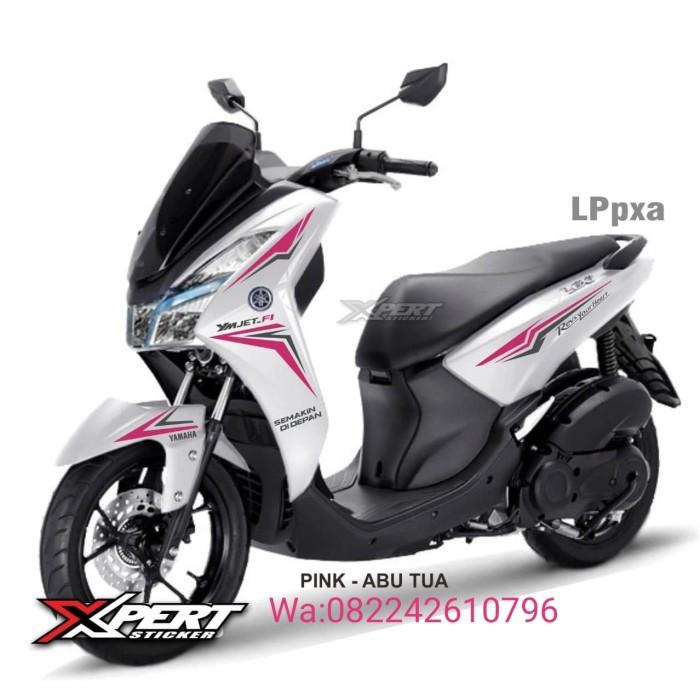 Foto Produk Striping Cutting Yamaha Lexi putih Sporty pink hitam dari StickerArt