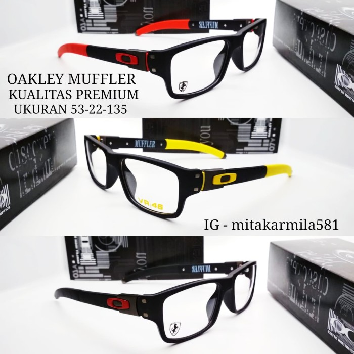 2f64735b4e Jual Kacamata frame OX Muffler paket lensa Blue ray - HITAM DOFF ...