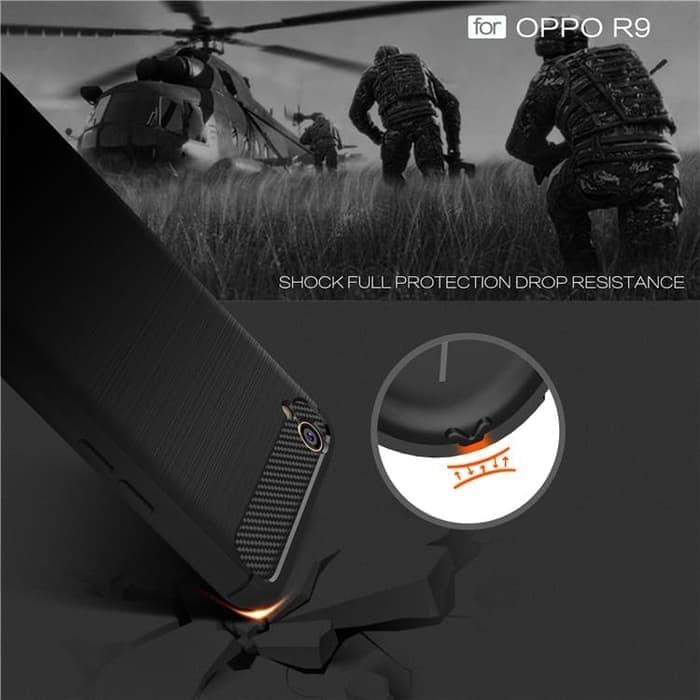 Unik Case Oppo F1 Plus R9 Ipaky Carbon Soft Series