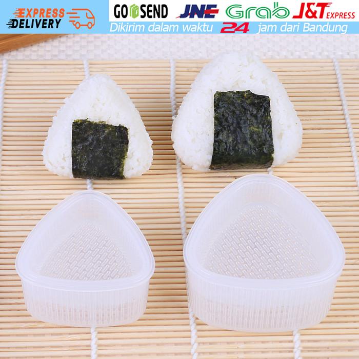 harga 2 buah cetakan sushi segitiga onigiri nasi pembuat sushi maker Tokopedia.com