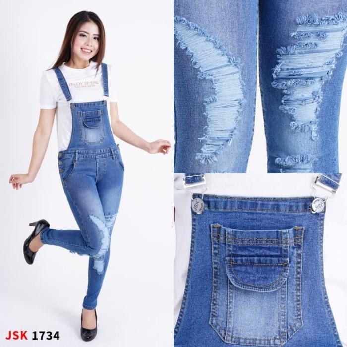 a84a5f5e812 Harga Terbaru Jumpsuit Panjang Jeans Wanita Skinny Celana Kodok ...