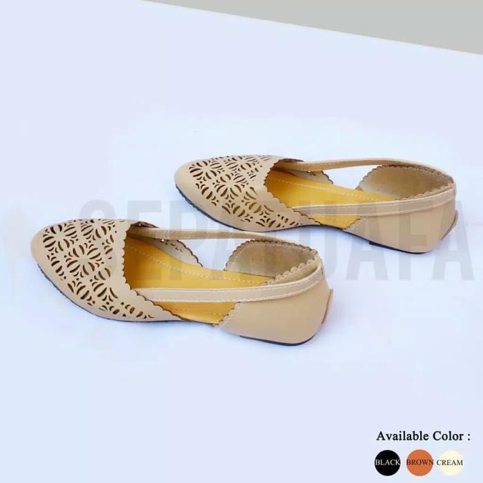 Jual Flat Shoes Sepatu Teplek Kirana AS28 - Cokelat ab479e6b29