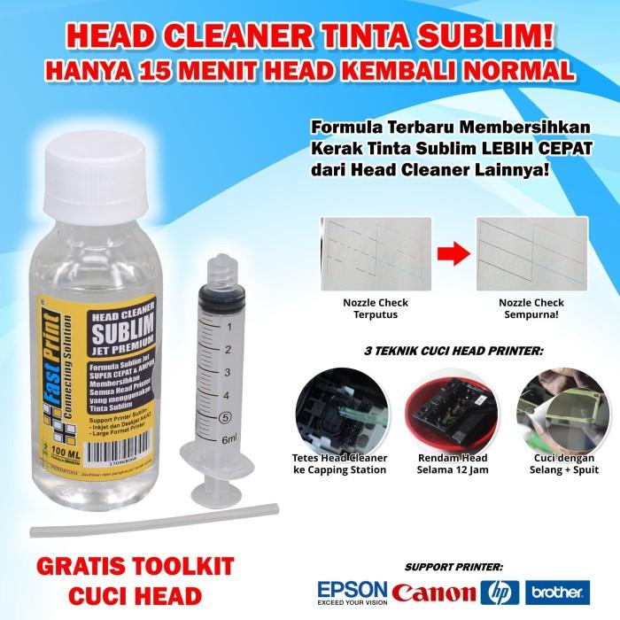 harga Head cleaner sublim jet premium fast print 100 ml Tokopedia.com