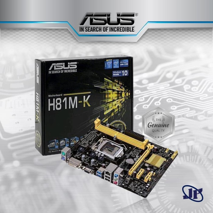 harga Motherboard asus h81m-k (lga1150 h81 ddr3 usb3.0 sata3) Tokopedia.com