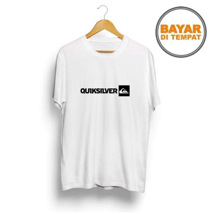 T-SHIRT GLORY kaos distro / kaos pria / t-shirt Quiksilver - Abu-abu Muda
