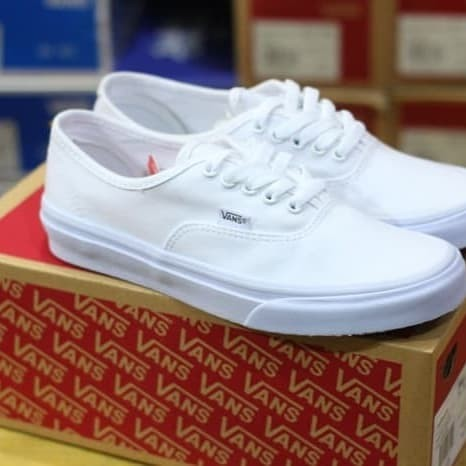 adff1599e5 Jual Sepatu Vans Authentic Full White Putih Import Premium Quality ...