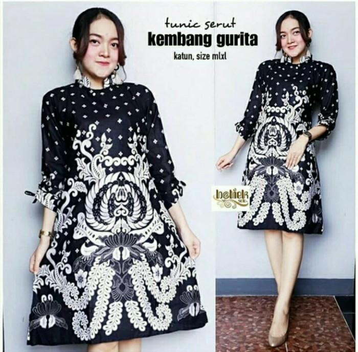 Jual Baju Batik Tunik Atasan Wanita Dress Batik Seragam Modern ... fcd7495c4c