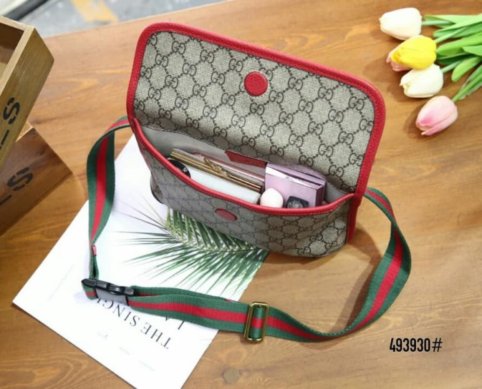 160aa421baad Jual High Premium Gucci GG Supreme Belt Bag 493930 - Alevelshop ...