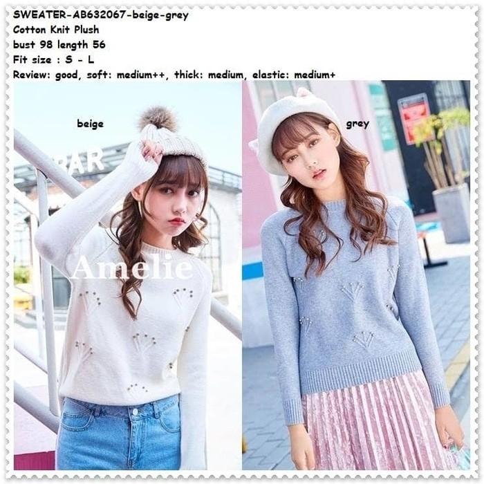 Jual Baju Atasan Sweater Rajut Knit Blouse Wanita Korea Import Tunik ... 6f5333e2d1