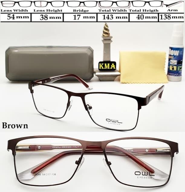 Jual kacamata kotak frame minus OWL frame kacamata minus super ... 7652b7b6da