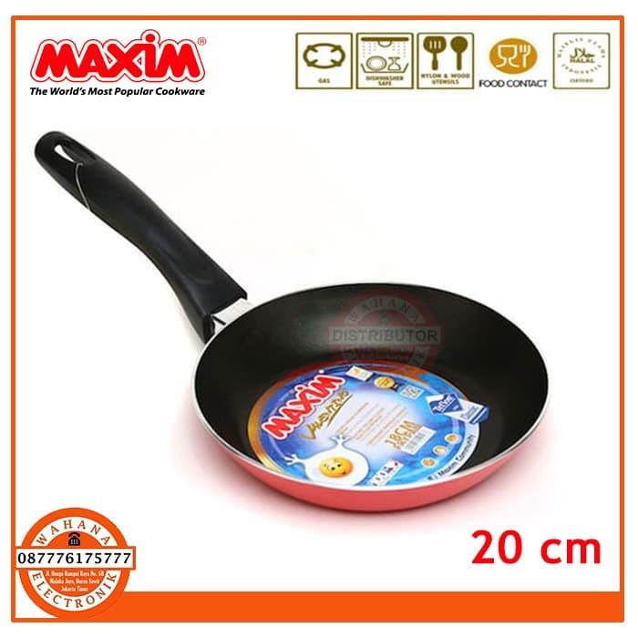 Wajan/Penggorengan (Fry Pan) Teflon 20 Cm Maxim Valentino Anti Lengket