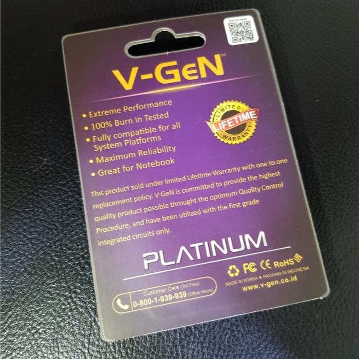 SODIMM DDR3 8GB PC-12800/1600 Mhz RAM Laptop/Notebook V-GeN PLATINUM