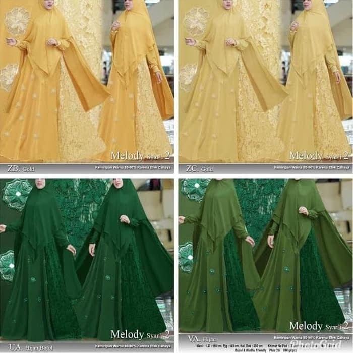 Jual Baju Busana Muslim Wanita Gamis Syari Pesta Melody Brukat ... df58b421f3