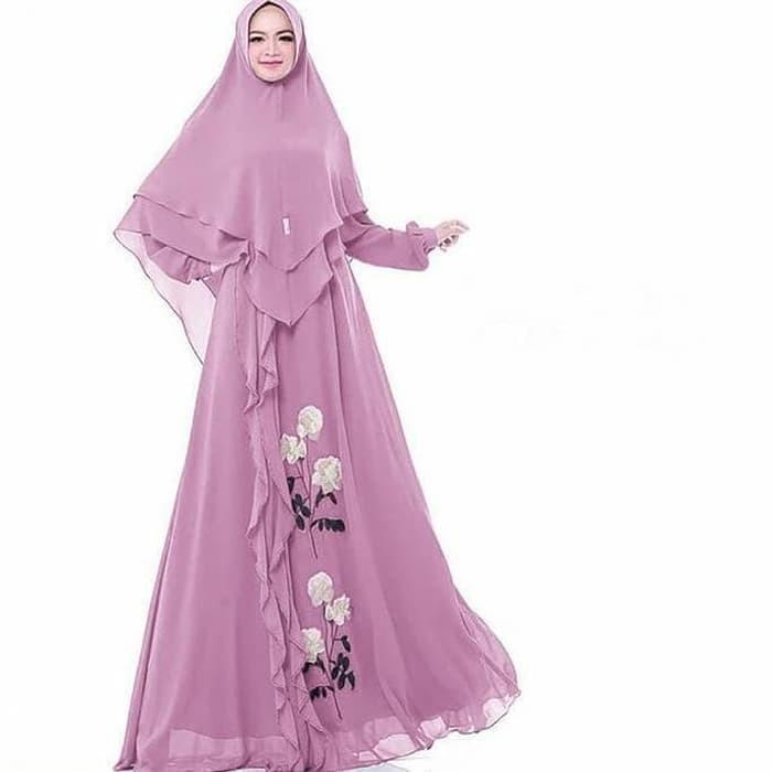 Jual Baju Busana Muslim Wanita Gamis Syari Pesta Syakila Terbaru ... 9645e9ee95