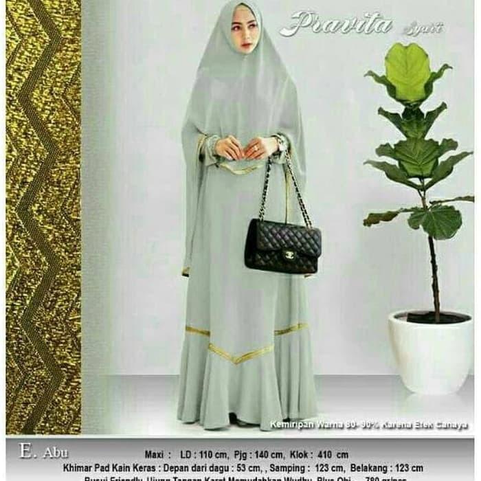 Jual Baju Busana Muslim Wanita Gamis Syari Pesta Annisa Pravita Cre ... 802335a082